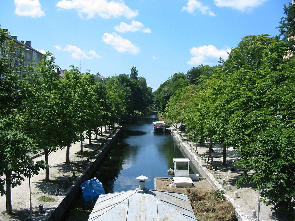 Lendkanal und Lendhafen, Elisabethbrücke, Rizzisteg sowie Steinerne Brücke